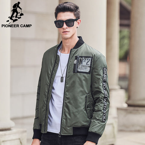 Army green down coat men brand clothing thick 90% white duck