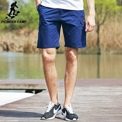 Shorts Many Pocket Loose Shorts male Solid Casual