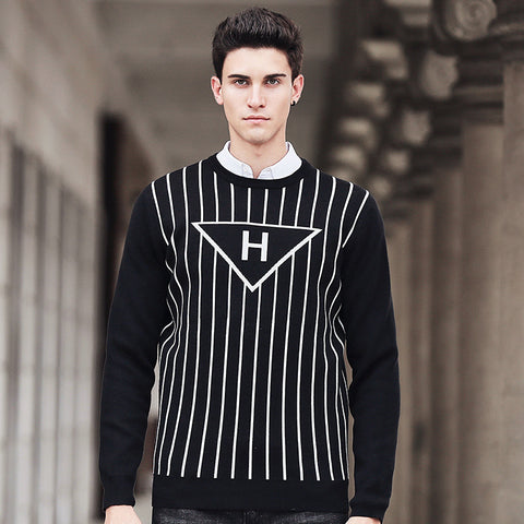 Autumn winter 2016 New Fashion brand clothing high quality male Knitted