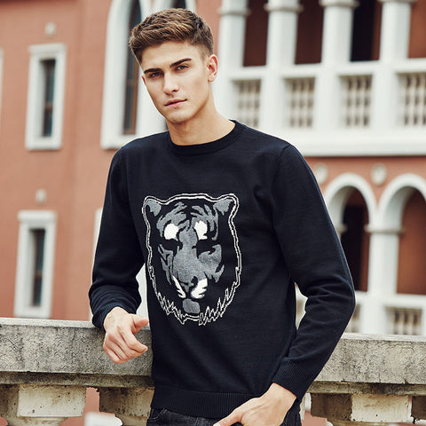 high Quality Brand clothing Tiger pattern Famous Brand casual Pullovers