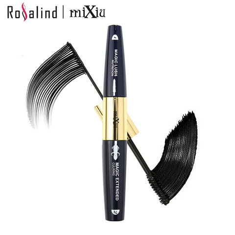 Makeup Black Mascara 2 Head in One Natural & Curling Magic Extended