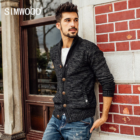 Cardigan men fashion casual sweater  fashion long sleeve brand clothing