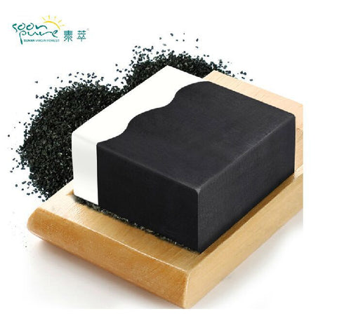 Bamboo Charcoal Facial Soap Cleanser Accuse Oil Black Head Remover