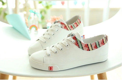 Breathable Canvas Shoes Women