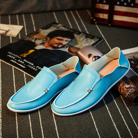 Flats Men Shoes Slip on Rubber Men Casual Shoes Brand Black Blue Shoes