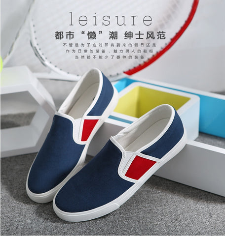 Canvas Shoes Men Casual Shoes Comfortable Breathable Loafers