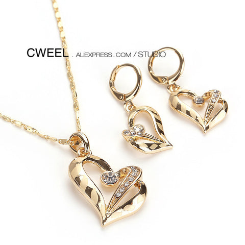 Crystal Beads Jewelry Sets For Women