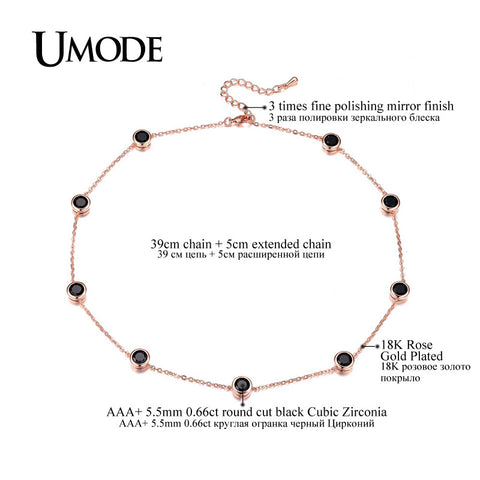 4 Designs Cubic Zirconia Crystal Gold / White / Rose Gold Plated Choker Necklaces Jewellery for Women Collares