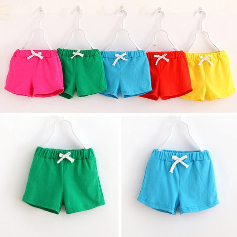 boys girls shorts cotton candy