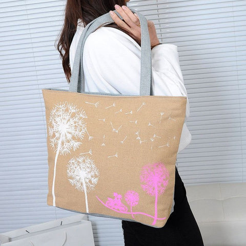 Dandelion Canvas Bag Flowers Women Handbag