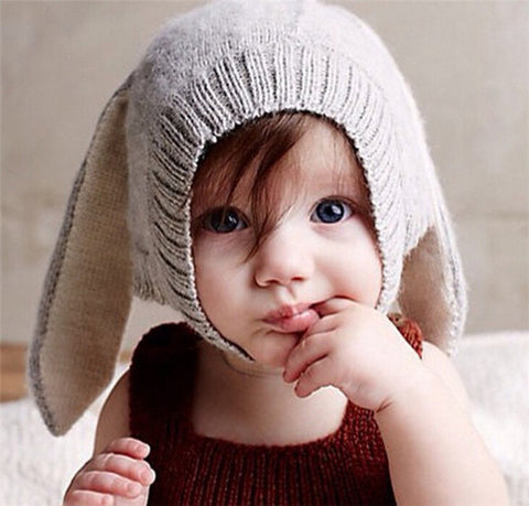 Winter  Baby Rabbit Ears Knitted Hat