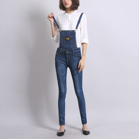 Female Autumn  Ankle-Length Vintage Washed Jeans Skinny Cropped