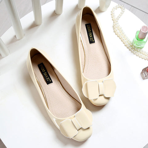 Flats Bow Loafers Slip-on Ladies Shoes