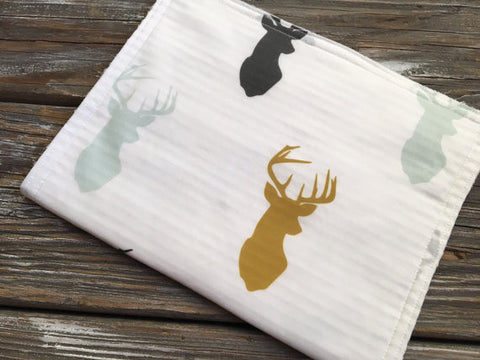Burp Cloth ~ Boho//Tribal//Deer