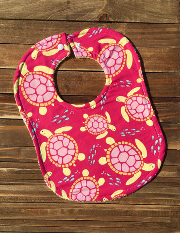Girl Baby Bib Hawaiian Turtle Baby Shower Gift