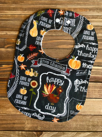 Thanksgiving Pumpkin Pie Baby Bib