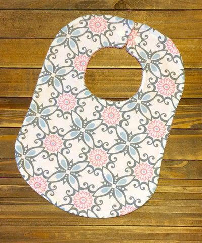 Girl Baby Bib Shabby Chic Baby Shower Gift