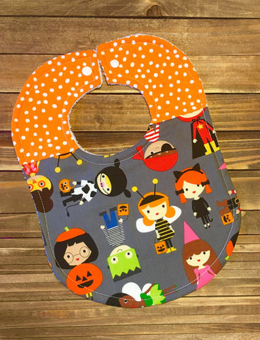 Halloween Baby Bib and Leg Warmer set