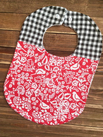 Girl Baby Bib Birdie Baby Shower Gift