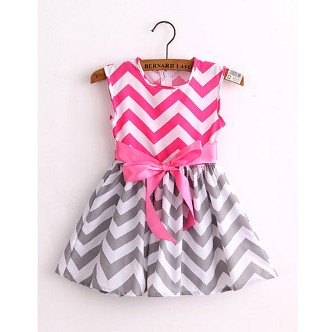 Cotton print  girl  princess  dresses