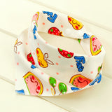 Mumsbest 100%Cotton Baby Bibs Newborn Baby Bandana Bib Double Layers Burp Cloths Boy Girl Head Scarf Cartoon Animal Babies Bibs