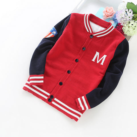 boys sweaters cotton cardigans