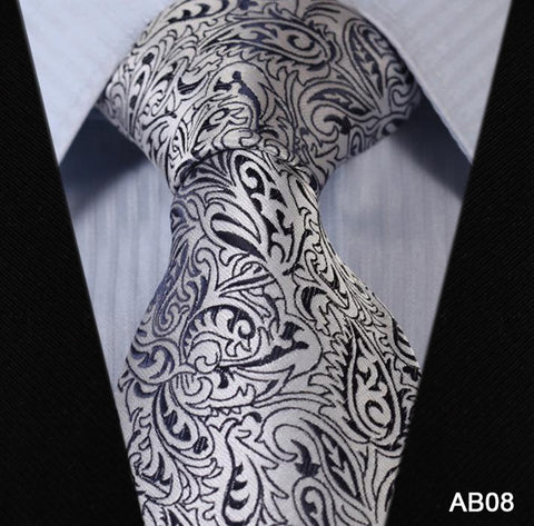 Floral 100% Silk New Hot Jacquard Woven Classic  Man's Tie Necktie
