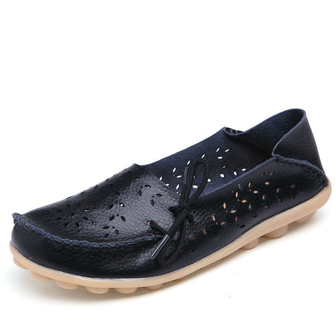 Cutout loafers slip on ballet flats boat shoes
