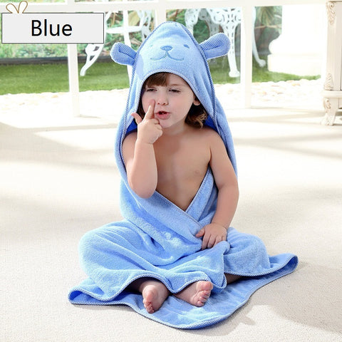 bath towel cute rabbit shape poncho hooded towel 90*90cm