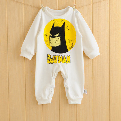 Bat Man baby clothing cartoon rompers