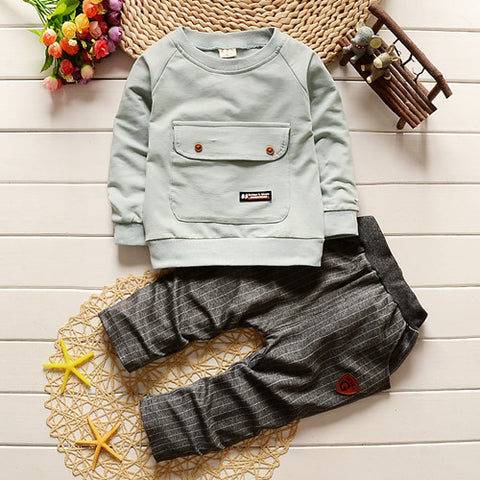 Boys clothing set kids sports