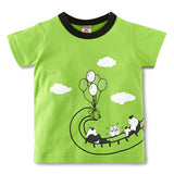 Kids Baby Boys Girls T-Shirt High Quality Creative Cartoon Short Sleeve