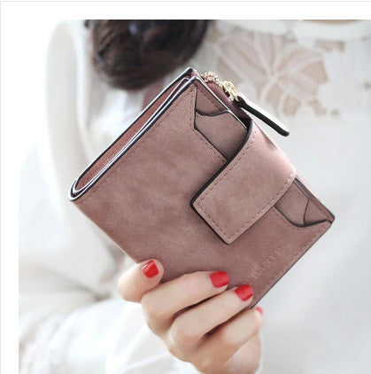 Fashion Women Wallet Retro Female Purse PU Zipper Wallets