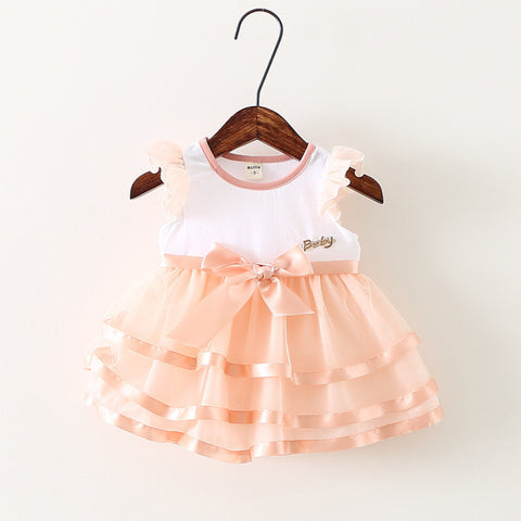 baby dress cute fly sleeve