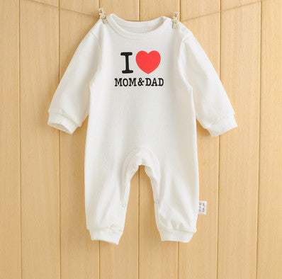 I Love Mom&Dad baby rompers