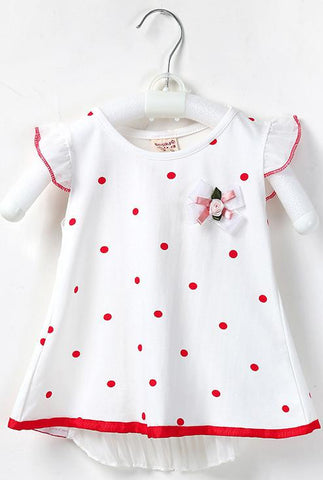 Baby Girl Dress Baby Bow Polka-dot Dress