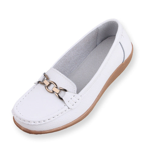 Flats Genuine Leather Zapatos Chaussure Femme Casual Shoes