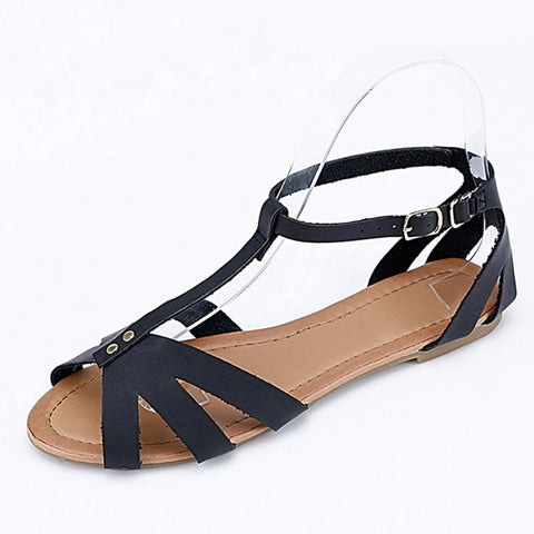 Gladiator Sandals Casual Flat Shoes Woman Summer Style