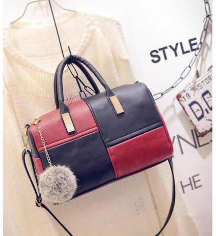 casual small patchwork pillow handbags