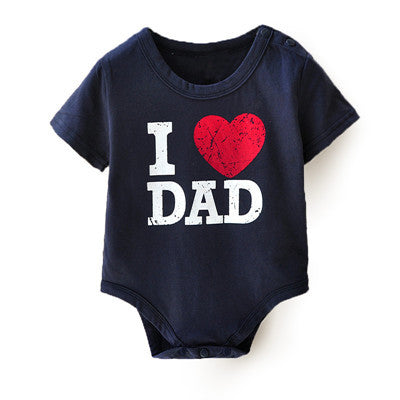 I Love Dad & Mom Baby Rompers Print Baby Rompers