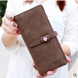 Fashion Women Wallets Drawstring PU Leather Zipper Wallet