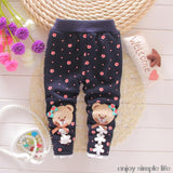 baby warm pants fall and winter fleece Footless