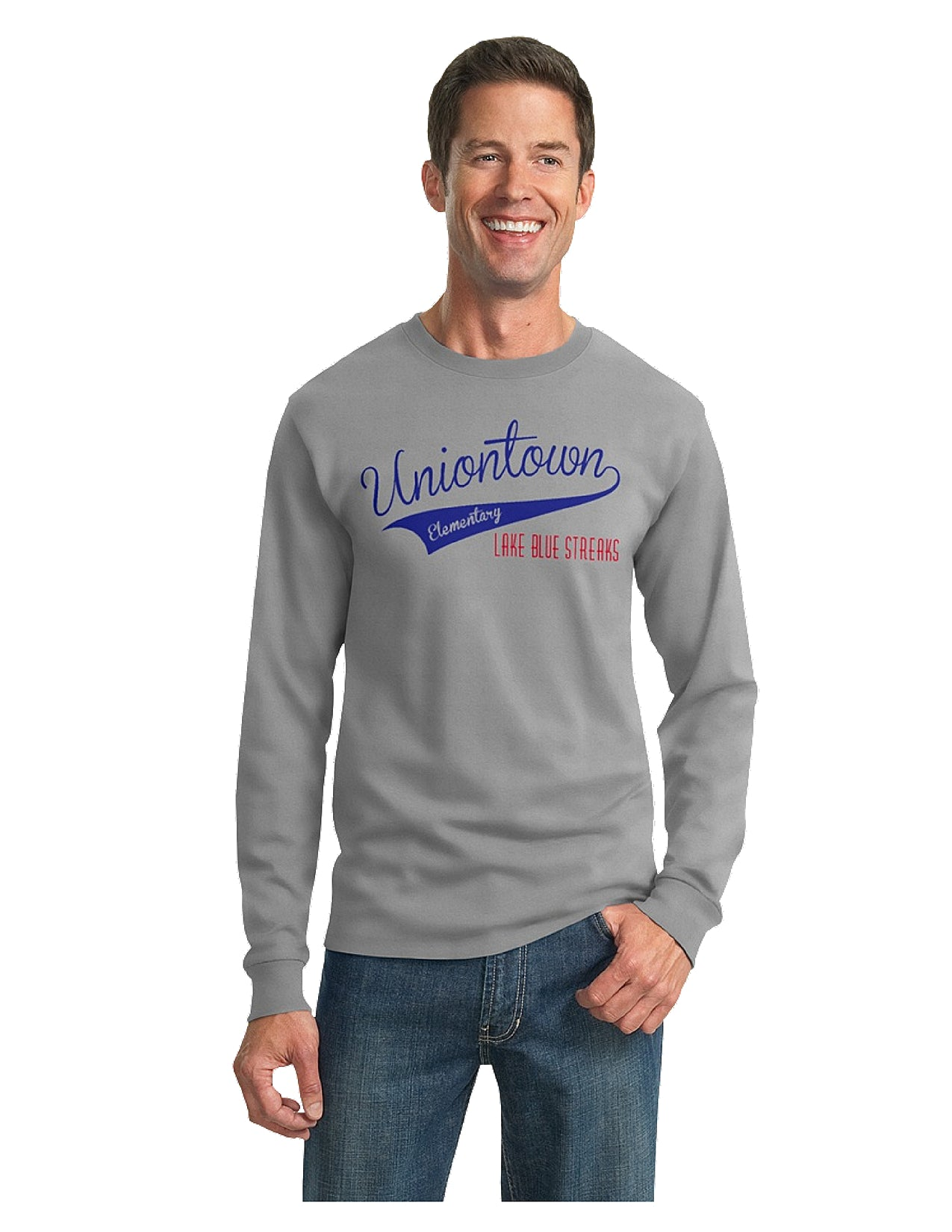 Dry-Power, Poly Blend Long Sleeve Tee - Unisex Sizing - Uniontown Elementary