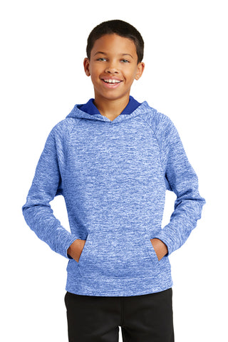Lake Express Youth Dry-Wick Fleece Hooded Pullover (Heathered)