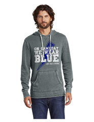 Navy Vintage Wash Burnout Hoodie - Game Day