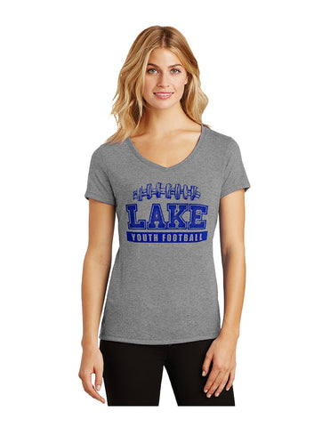 Triblend Women's V-Neck Tee-Lake Youth Football