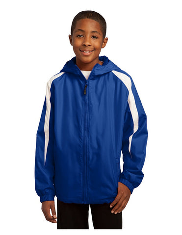 Lake Cheer Youth Raglan Colorblock Jacket with Hood-Youth Large