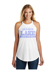 Triblend High Neck Rocker Tank