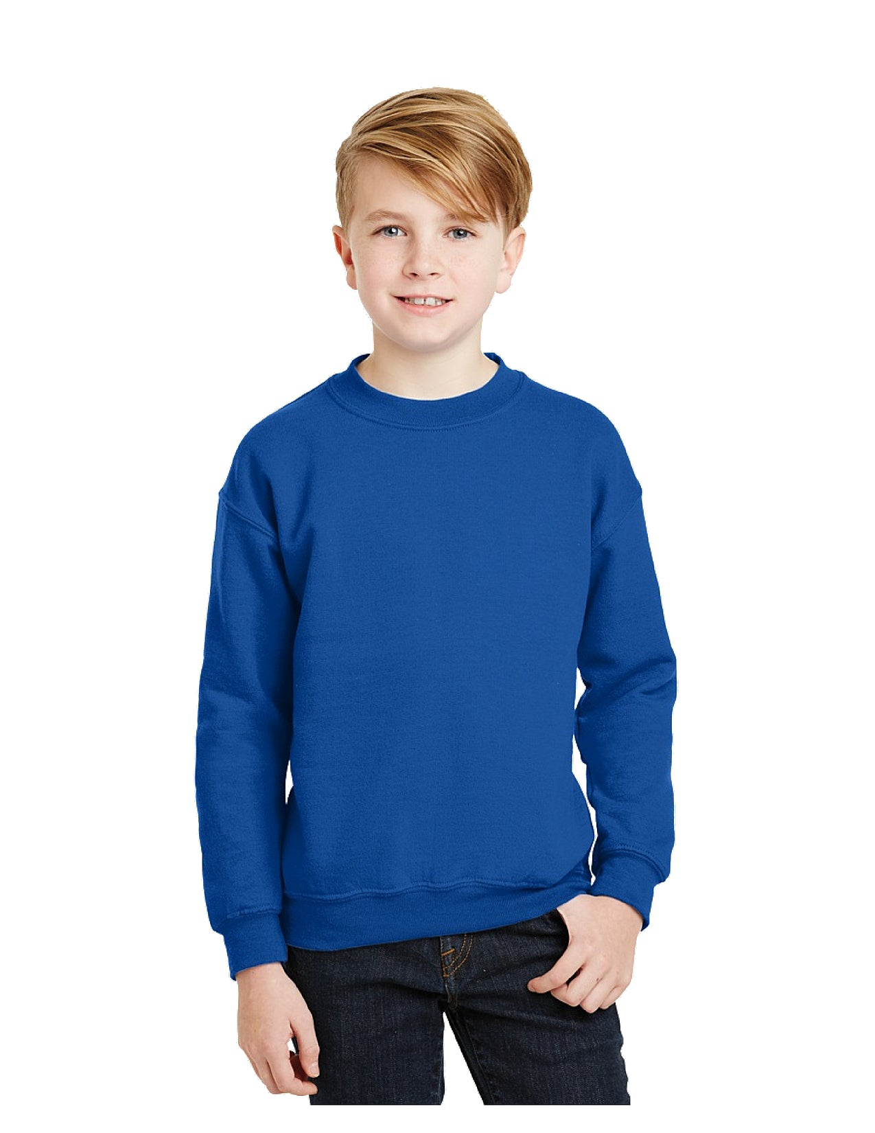 Youth Small Lake Youth Cheer Crew Neck Sweatshirt-Royal Blue