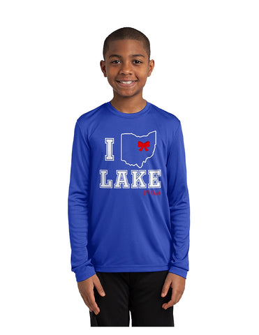 Youth Dry-Fit Long Sleeve Tee-Cheer Logo